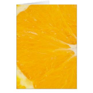 Naranja Zesty Tarjeta