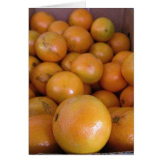 Naranjas 1 tarjeta de felicitación