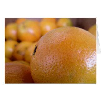 Naranjas 2 tarjeta de felicitación