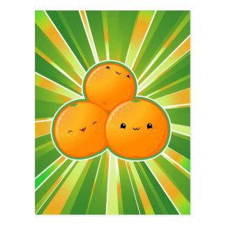 Naranjas de Kawaii Postal