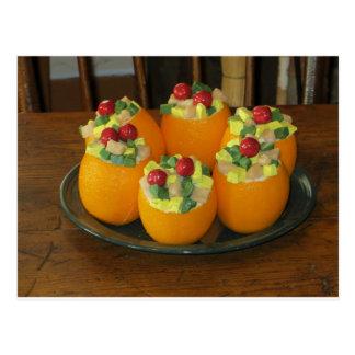 Naranjas decorativos del navidad tarjeta postal