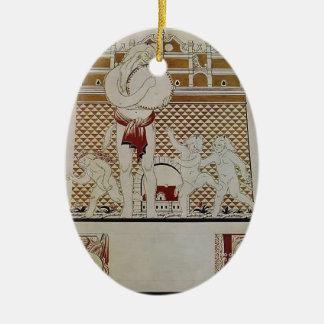 Narbut-Hoja B de Heorhiy del alphabet ucraniano Ornamento De Navidad