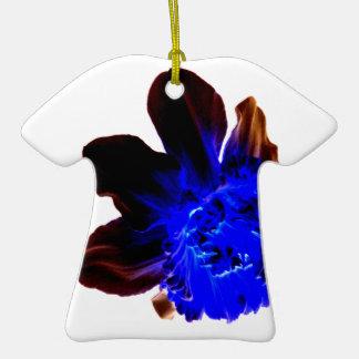 Narciso azul eléctrico del resplandor adornos de navidad