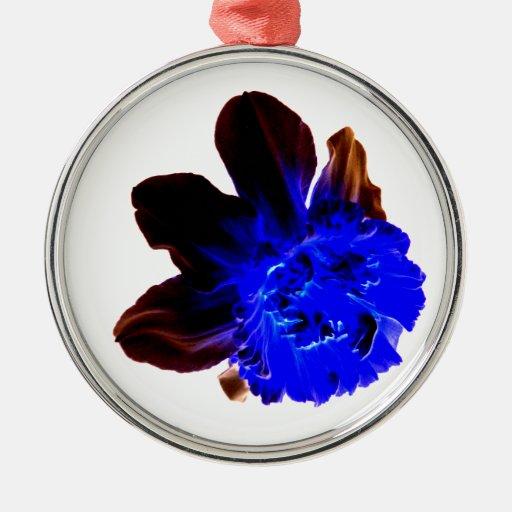 Narciso azul eléctrico del resplandor adorno