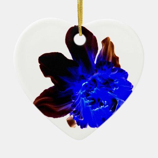Narciso azul eléctrico del resplandor ornato