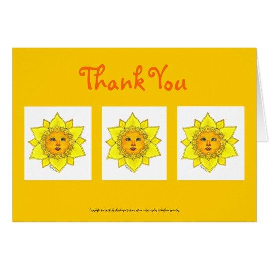 Narciso soleado - tarjeta de nota (gracias)
