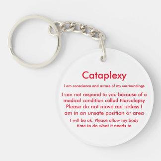 Narcolepsy y llavero alerta médico de Cataplexy