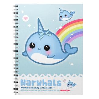Narwhals de Kawaii Cuaderno