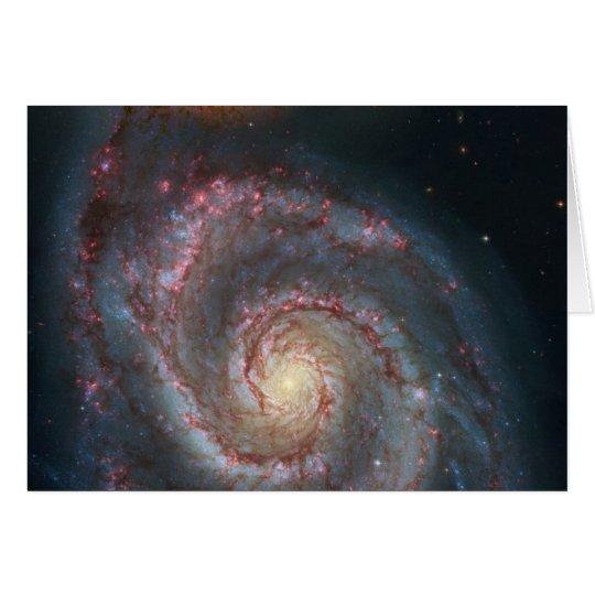 NASA de la galaxia espiral de M51 Whirlpool Tarjeta De Felicitación