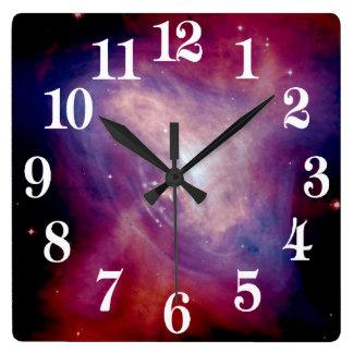 NASA de la nebulosa de cangrejo de Chandra Reloj Cuadrado