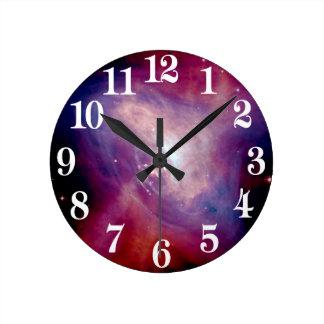 NASA de la nebulosa de la radiografía del cangrejo Reloj Redondo Mediano