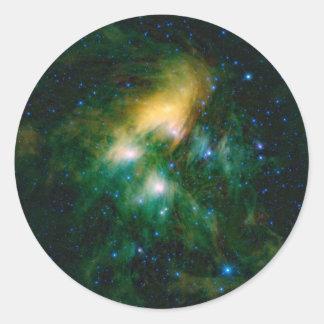 NASA Pleiades Pegatina Redonda