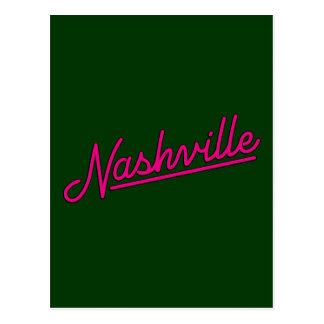 Nashville en magenta postal