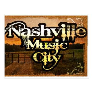 Nashville, postal del casete de la ciudad de la