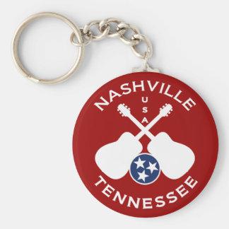 Nashville, Tennessee los E.E.U.U. Llavero Redondo Tipo Chapa
