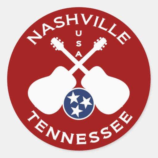 Nashville, Tennessee los E.E.U.U. Pegatina Redonda