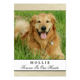 Nata conmemorativa de la tarjeta del perro - no tarjetas de visita grandes