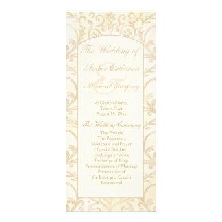Nata floral del damasco y programa beige del boda