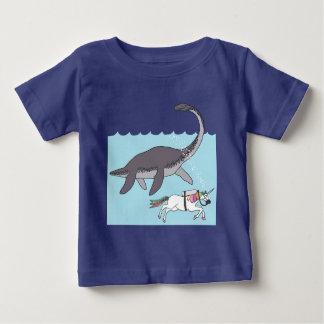 Natación del monstruo de Ness de cerradura con Camiseta De Bebé