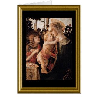 Natale de Buon - saludo Maria en italiano Tarjeton