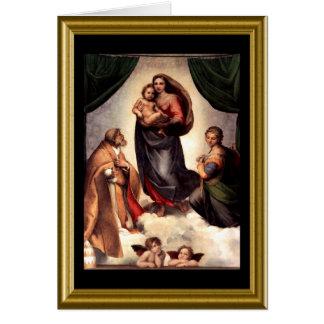 Natale de Buon - saludo Maria en italiano Tarjetón