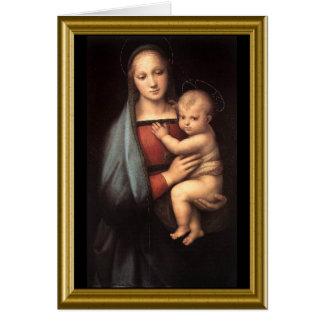 Natale de Buon - saludo Maria en italiano Tarjeta