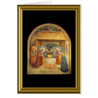 Natale de Buon - saludo Maria en italiano Tarjeta De Felicitación