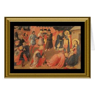 Natale de Buon - saludo Maria en italiano Tarjetas