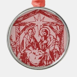 natividad bonita outline_edited-1 rojo adorno navideño redondo de metal
