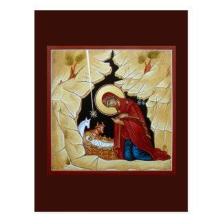 Natividad de la tarjeta del rezo de Cristo