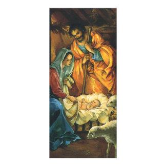 Natividad del navidad del vintage, bebé Jesús en Plantillas De Lonas