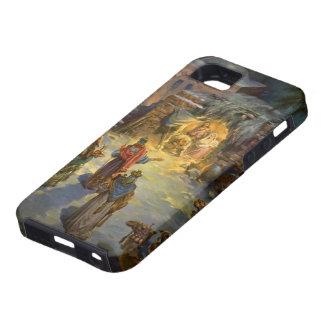 Natividad del navidad del vintage con unos de los iPhone 5 Case-Mate cárcasas