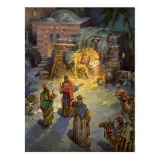 Natividad del navidad del vintage postales