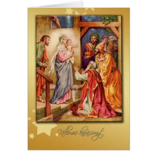 natividad húngara de la tarjeta de las Felices