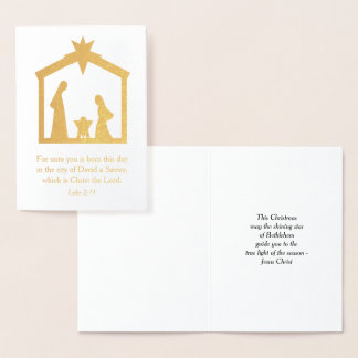 Natividad Jesús religioso cristiano del navidad Tarjeta Con Relieve Metalizado
