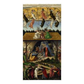 Natividad mística de Sandro Botticelli Tarjeta Fotografica Personalizada
