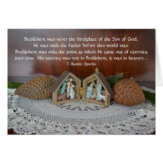Natividad… Tarjeta de felicitación