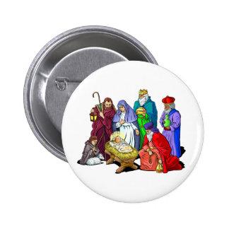 Nativity_Button Chapa Redonda De 5 Cm