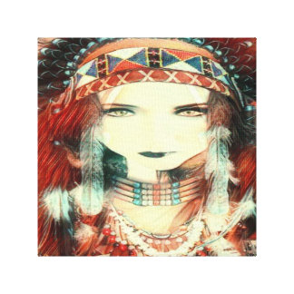nativo americano lienzo
