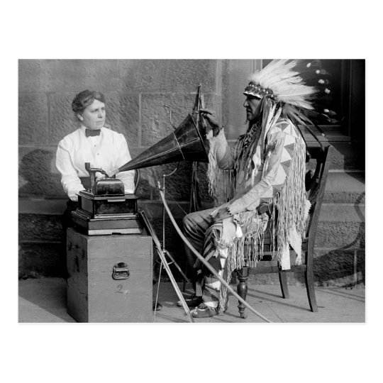 Nativo americano Music, 1915 Postal