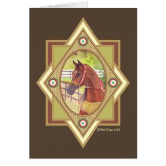 Natural árabe tarjeta de felicitación