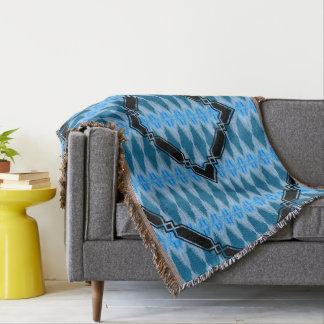 Natural azul del diamante manta tejida