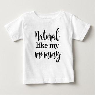 Natural como mi camiseta natural del pelo de la