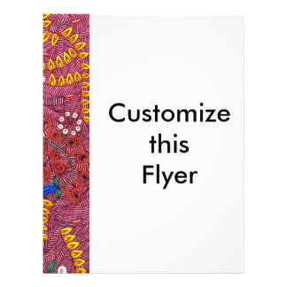 Naturaleza adaptable en el caos floral y las hojas folleto 21,6 x 28 cm