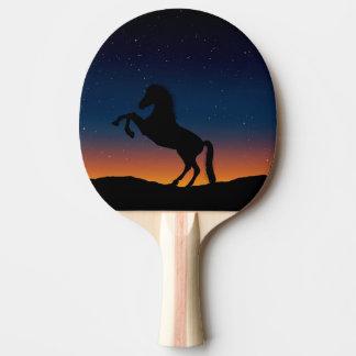 Naturaleza animal del caballo pala de ping pong