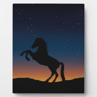 Naturaleza animal del caballo placa expositora