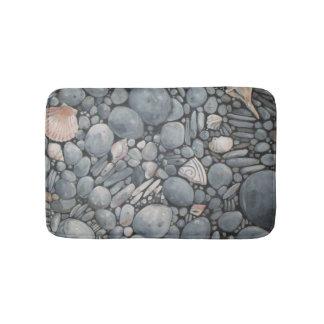 Naturaleza de la casa de playa rocosa alfombrilla de baño