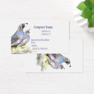 Naturaleza del pájaro de la tarjeta de visita de