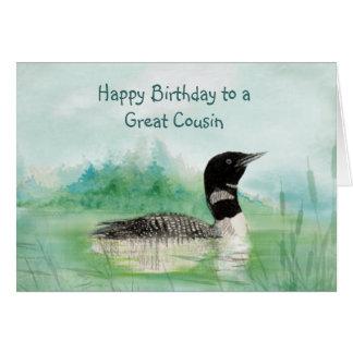 Naturaleza del pájaro del bribón de la acuarela de tarjeta de felicitación