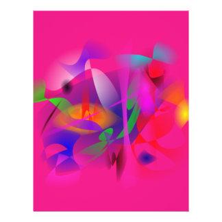 Naturaleza en rosa tarjetón